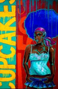 CUPCAKE Acrylic on canvas 1.5m x 1m SOLD
