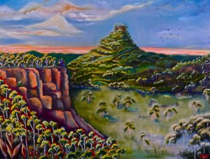 PIGEON HOUSE MOUNTAIN Oil on canvas