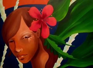 GODDESS DREAMING Oil on canvas 102cm x 77cm NOT FOR SALE