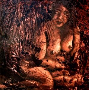 SHAR WOMAN Acrylic on canvas SOLD