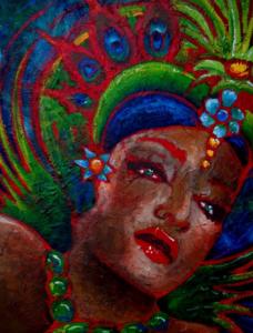 CARNIVALE Mixed media Acrylic on Canvas 107cm x138cm FOR SALE $2900