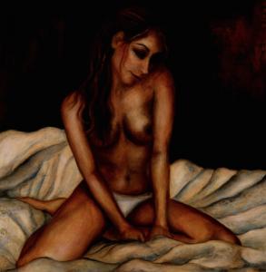 IVONA Oil on canvas 1m x 1m SOLD