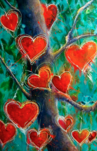 BIG LOVE TREE 150cm x 120cm Acrylic on canvas SOLD $3200
