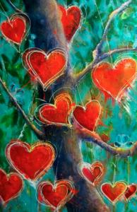 BIG LOVE TREE 150cm x 120cm Acrylic on canvas SOLD $3200