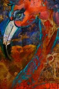 Close up of FLAMING FLAMINGO'S SOLD
