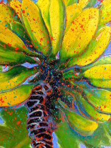 GOING BANANAS (close up) 90cm x 70cm Oil on Board FOR SALE $1200