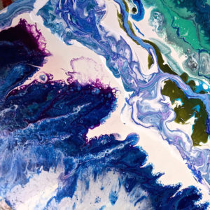 Lucid River close up 3 122 x 77cm Acrylic on board SOLD