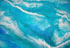 Turquoise Sea 122 x 84cm $1600 FOR SALE