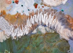 Aerial Dreams 122cm x 88cm Oil on canvas close up SOLD