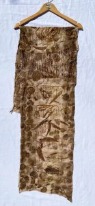 Bronzed Leaf. Fabric: Eco-dye on wool and cotton blend Length 166cm. Price $275 (Shorter Scarf)